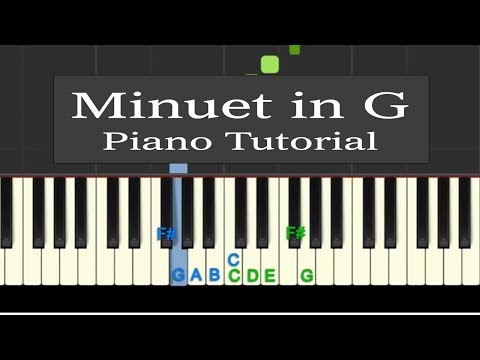 Easy Piano Tutorial: Minuet in G Major (simplified) Bach / Petzold with free sheet music