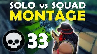 33 KILL SOLO SQUAD MONTAGE | DAEQUAN TIPS TO BECOME A YOUTUBER / STREAMER - (Fortnite Battle Royale