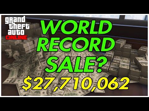 GTA ONLINE $27,710,062 WORLD RECORD BIGGEST SALE?! HANGAR, M