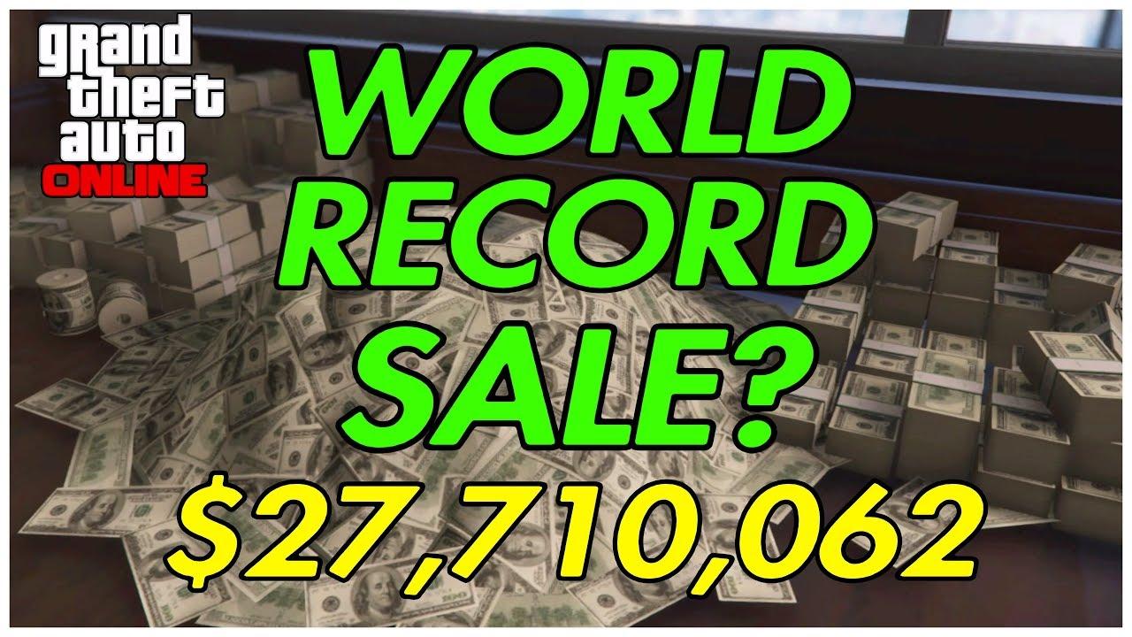 Gta online biggest sale world record top gta money for Fenetre sale gta 5