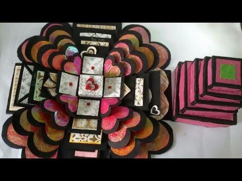 Explosion box tutorial valentine gift anniversary gift youtube