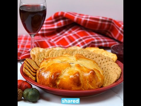 Cranberry Crescent Baked Brie