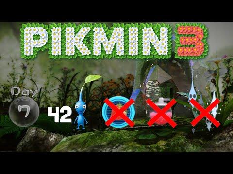 Pikmin 3 - 42 pikmin 0 fruit run (7days|No sprays|No deaths)