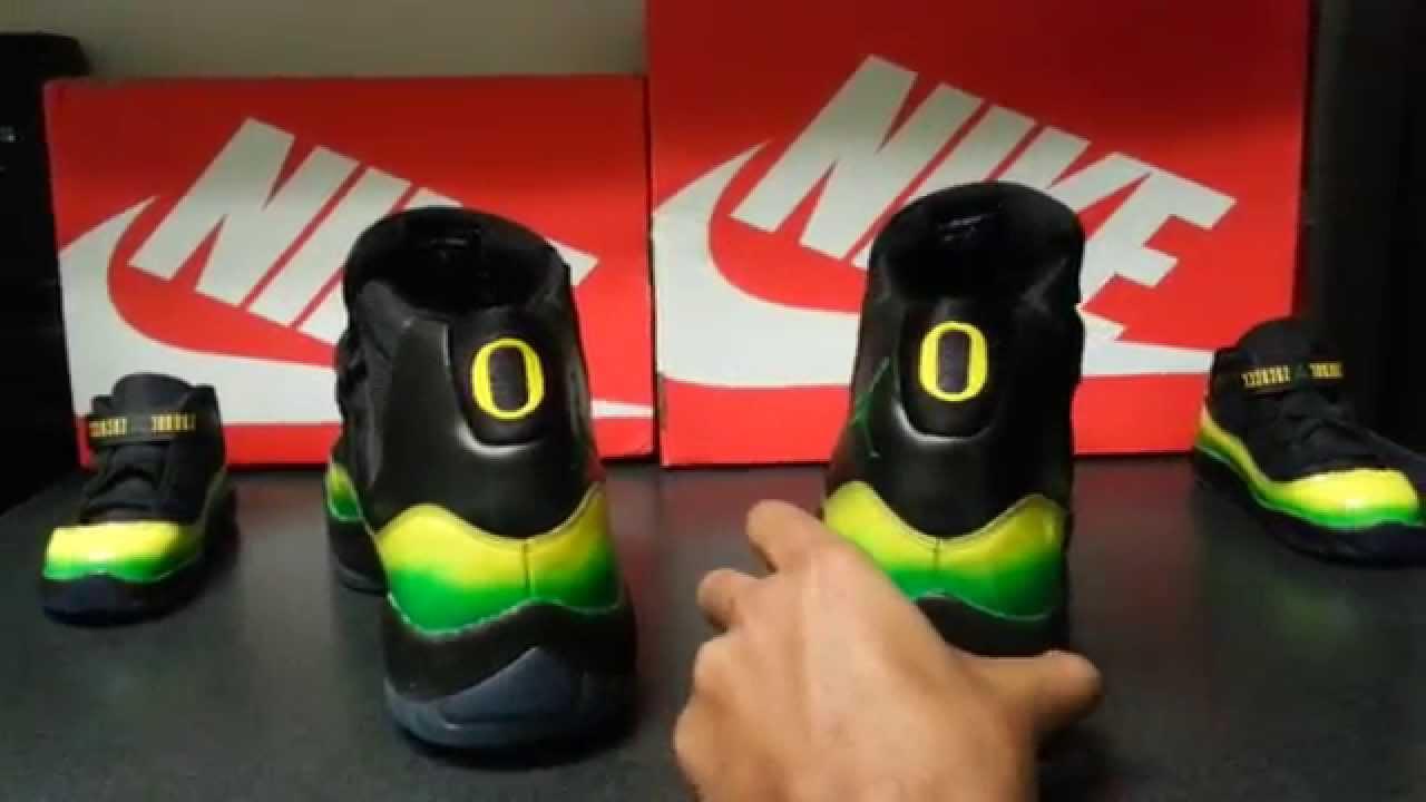 Oregon Air Jordan 11 - YouTube