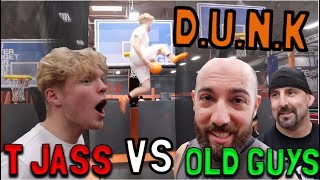 Sky Zone Game Of D.U.N.K vs 2 Old Guys!