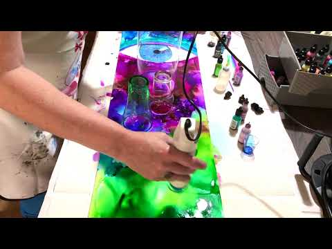 #109 Freestyle Alcohol Ink Painting Fluid Art tutorial thumbnail