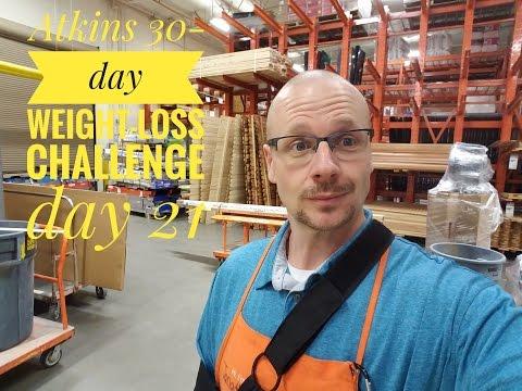 Atkins diet phase 1 challenge (Day 21)