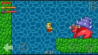 Retro World - walkthrough with secrets - Level 2 (Water World)