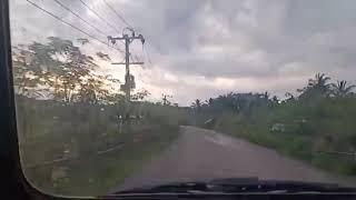 Perjalanan doktoro esperanto el Aceh melewati jalan lintas lawueng kr raya saat malam