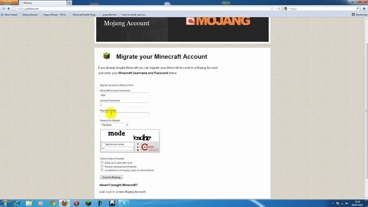 free minecraft username and pass