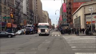 2 NYPD BOMB SQUAD DETECTIVES BUREAU UNITS RESPONDING ON W. 14TH ST. FOR SUSPICIOUS SUITCASE CALL.