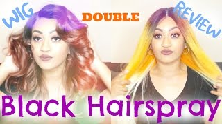 Black Hairspray - DOUBLE Wig Review!! | Unboxing