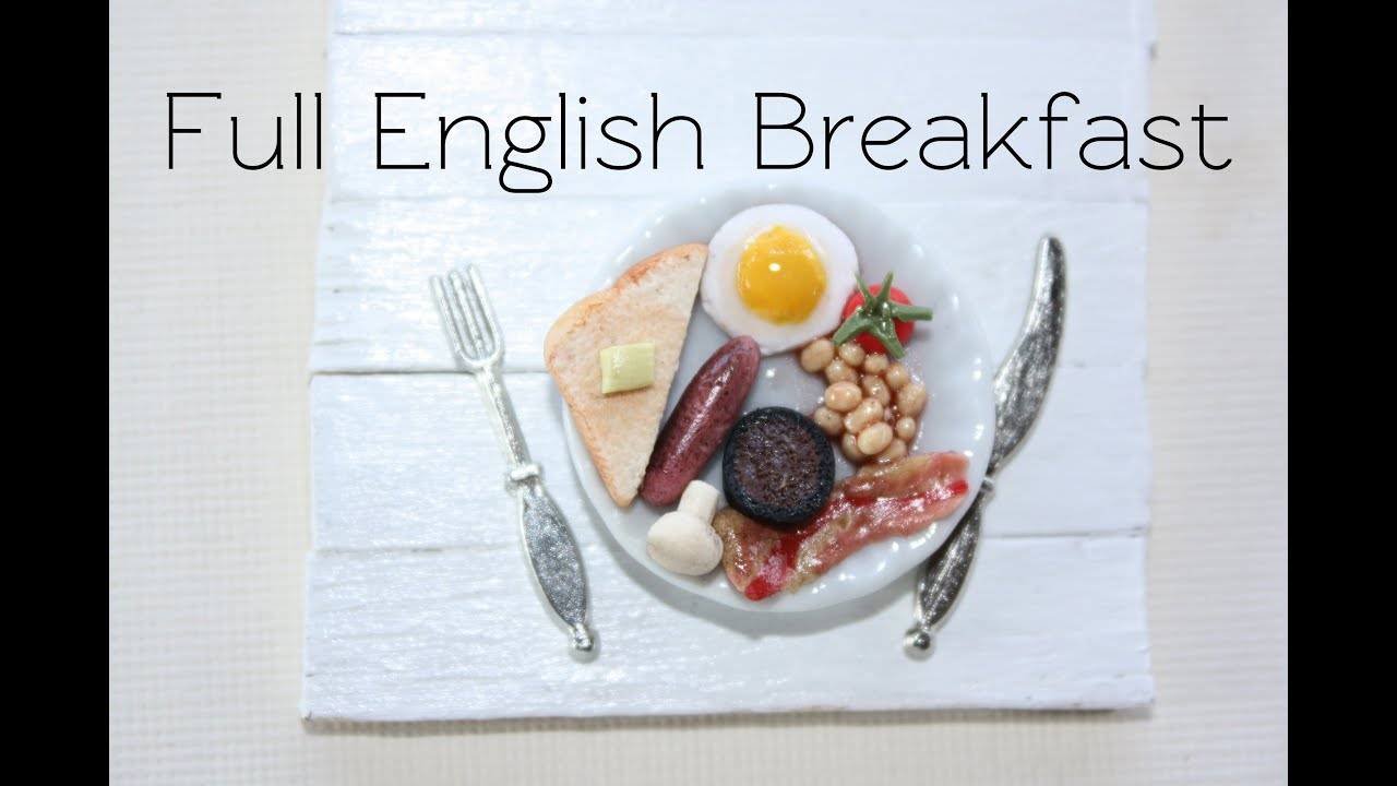 Full English Breakfast - Clay Food Tutorial - YouTube