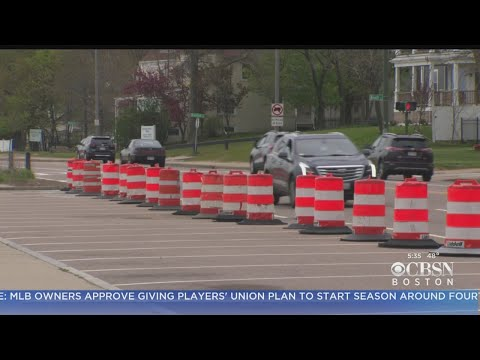 Closed Parking Lot At Wollaston Beach Fills Side Streets With Cars