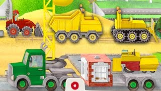 Tractor cartoon for children English. Tractor for kids. Excavator. Construction cartoons for kids.