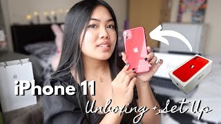IPHONE 11 UNBOXING, FIRST IMPRESSION, SET UP (RED) + IPHONE X COMPARISON