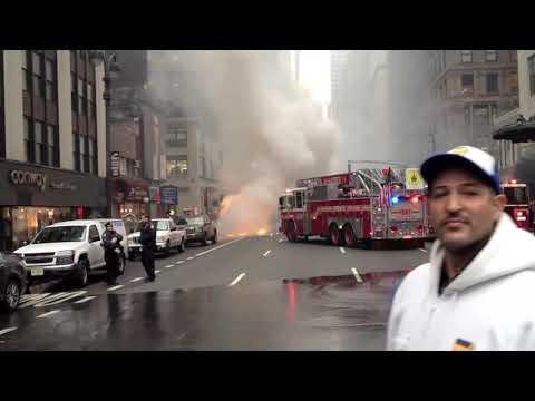 School Bus on fire NYC