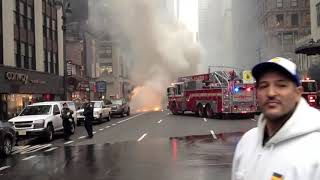 School Bus on fire NYC