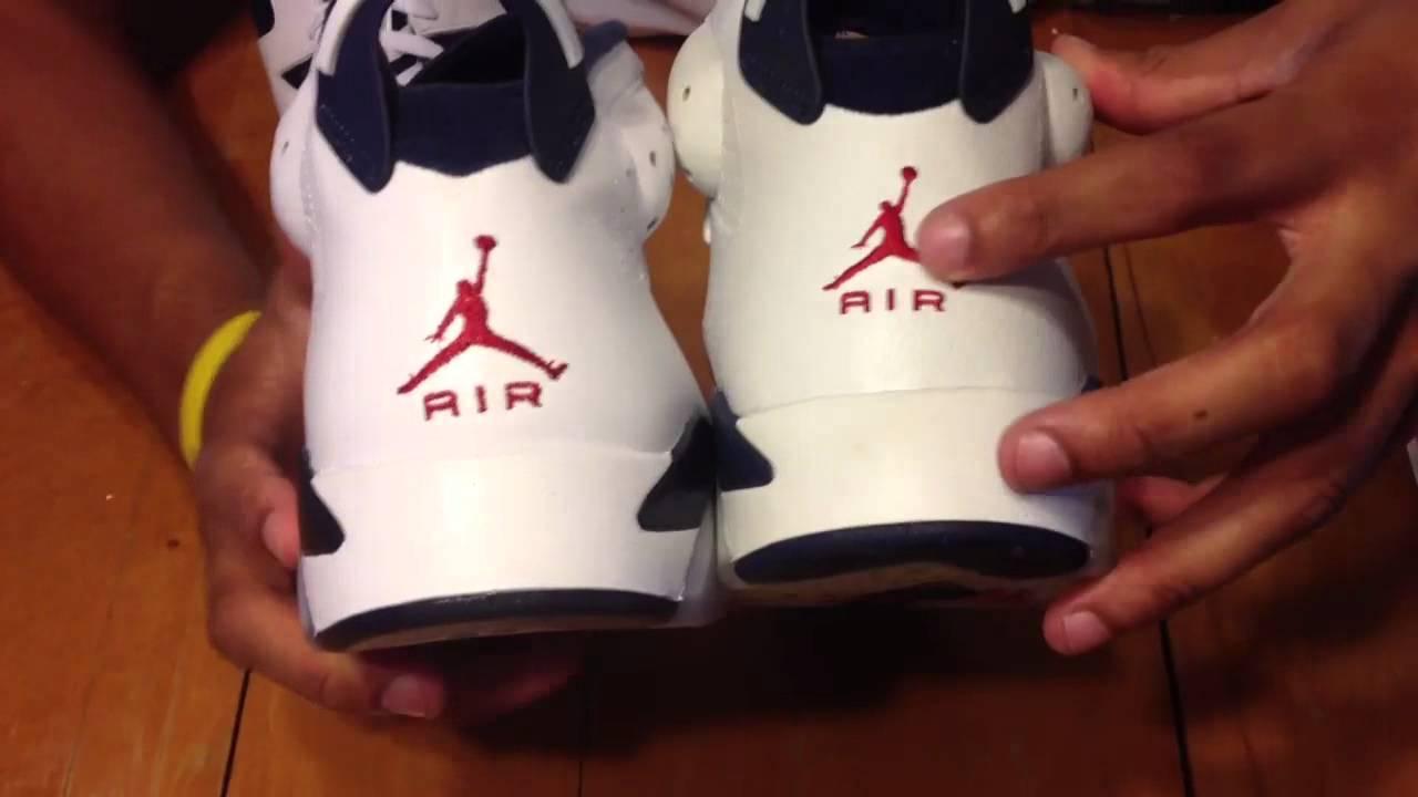 c21bb76c56c4 Nike Air Jordan 6 Olympic comparison video review video . 2000 2012 -  YouTube