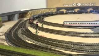 Spur Z Anlage 2x1m, lange Züge - mächtig Sound