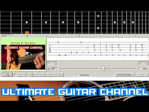 Guitar Solo Tab] Set Fire To The Rain (Adele) - YouTube