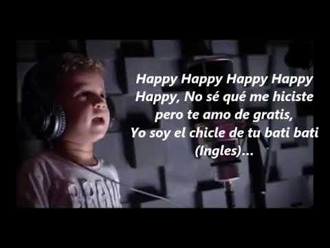 Happy Letra   Nacho cantando con sus Hijos Jonathan RT