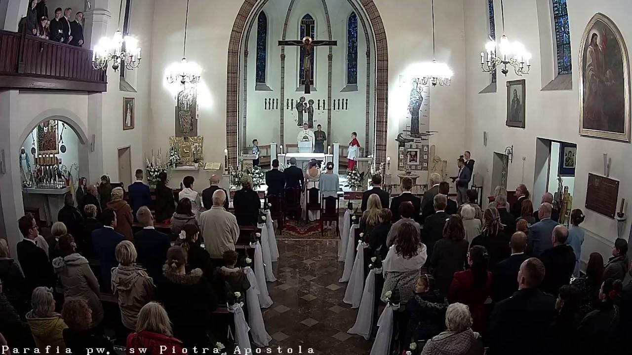 ślub Tomasza I Anny Rychłowskich Parafia św Piotra Apostoła W