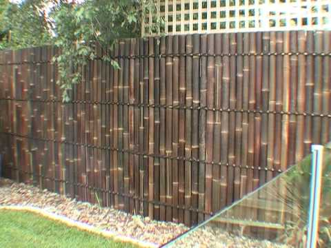 diy bamboo panel fence installation guide youtube. Black Bedroom Furniture Sets. Home Design Ideas