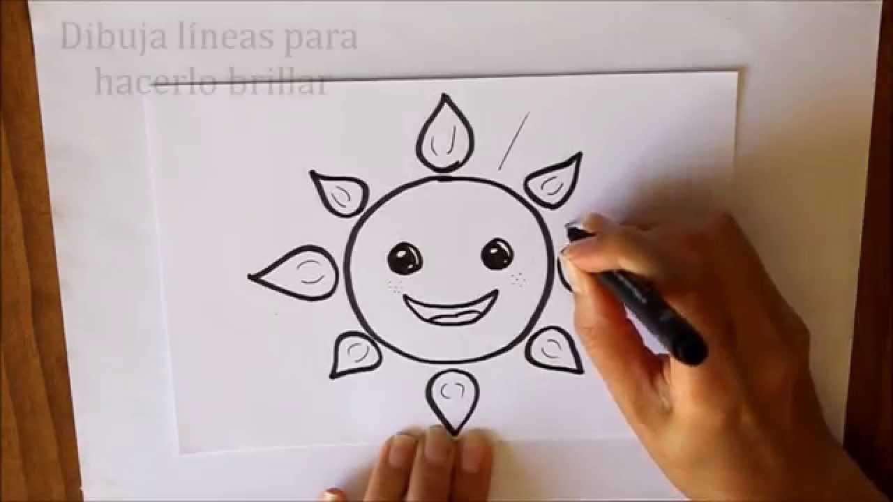 Cmo dibujar un Sol Dibuja Conmigo Dibujos de Verano  YouTube