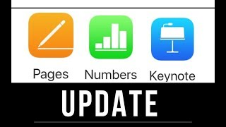 How to Update - Pages to version 7.1 , Numbers to version 5.1, Keynote to version 8.1
