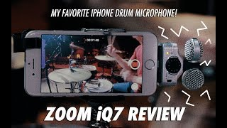 ZOOM iQ7 Review // My favorite iPhone mic to record drums with!