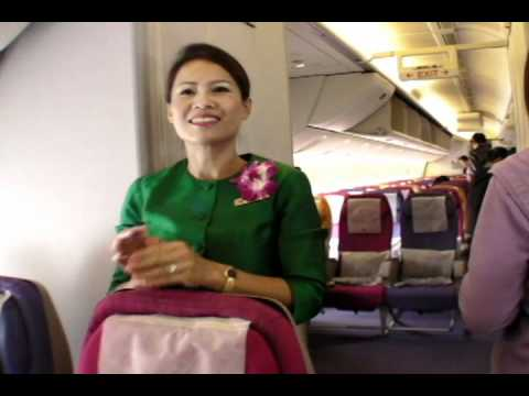 "Thai Airways タイ国際航空 Beautiful Cabin Attendants ""Sawasdee kha"" Ver.2"