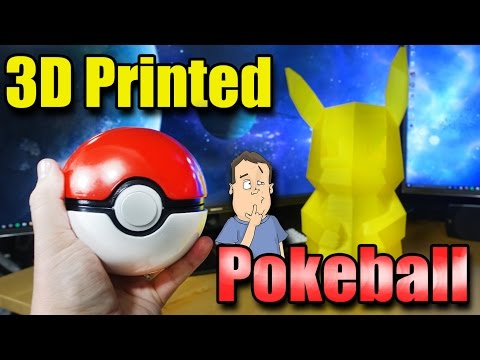 3D Printing Giant Pokemon GO Pokeball with Pikachu