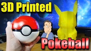 3D Printing Giant Pokemon Pokeball with Pikachu - Pokemon GO