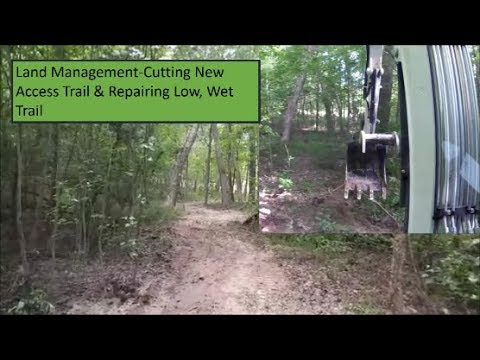 Land Management-Cutting New Path for access & Repairing low, wet trail