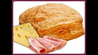 слойки с ветчиной сыром и зеленью!Самый вкусный рецепт!