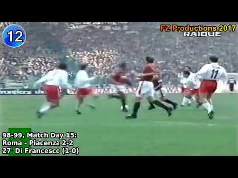 Eusebio Di Francesco - 32 goals in Serie A (Piacenza, Roma, Perugia 1995-2004)