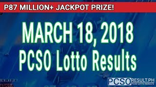 PCSO Lotto Results Today March 18, 2018 (6/58, 6/49, Swertres, STL & EZ2)