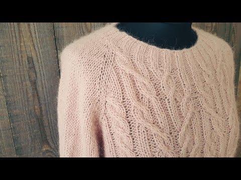 свитер маршмеллоу 2 я часть спицами реглан прикольное видео
