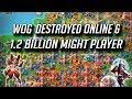 KINGDOM 21 VS WOG Online & 1.2 Billion Might Player Destroyed - Lords Mobile