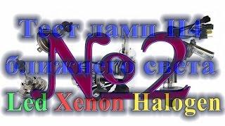 Светодиодные лампы H4, тест и сравнение с ксеноном и галогенками Часть 2(Вторая часть про лампы, Будет ещё одна часть как минимум, там рассмотрим ещё 2 светодиодные лампы и сравним..., 2016-03-16T12:08:26.000Z)