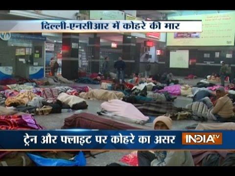 Heavy Fog Engulfs Delhi, Noida, Gurugram; Many Trains and Flights are Delayed