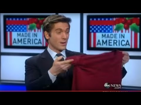 DAVID MUIR, Clothes Made In America, ABC World News 12.06.13