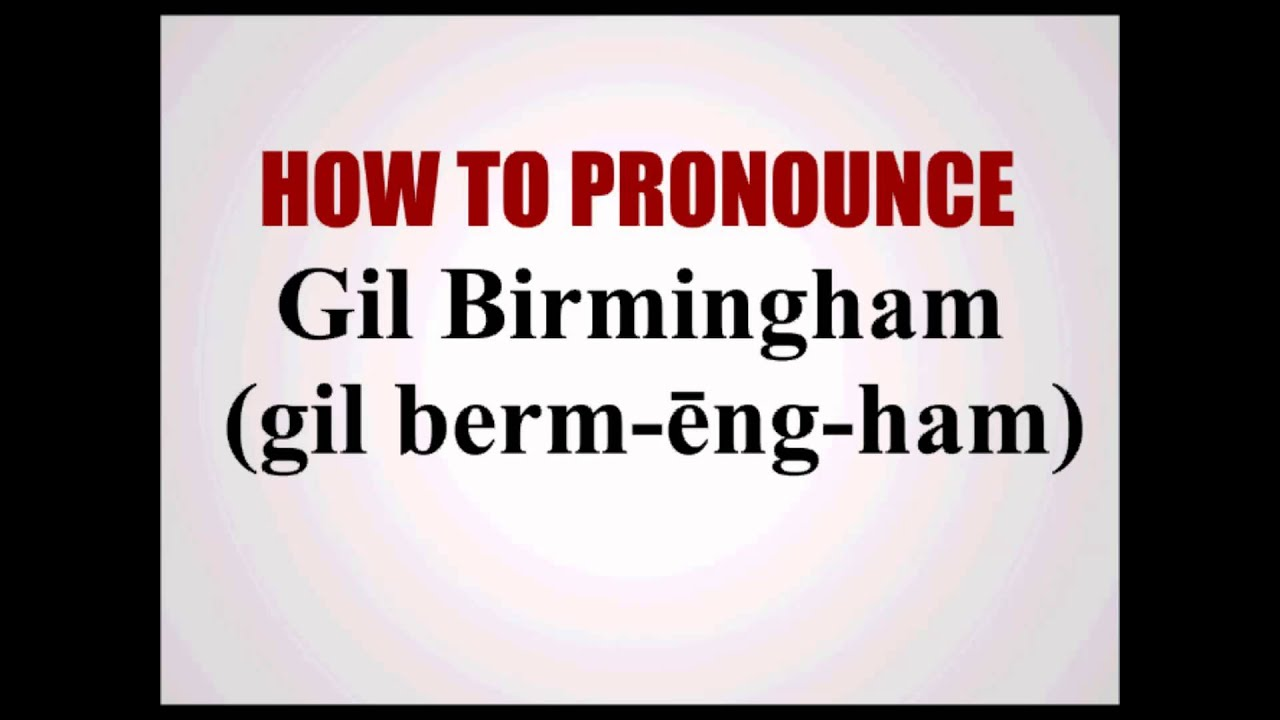 How To Pronounce Duncan Birmingham