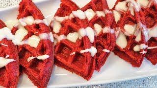 red velvet waffles homemade and delicious christmas brunch chef lorious