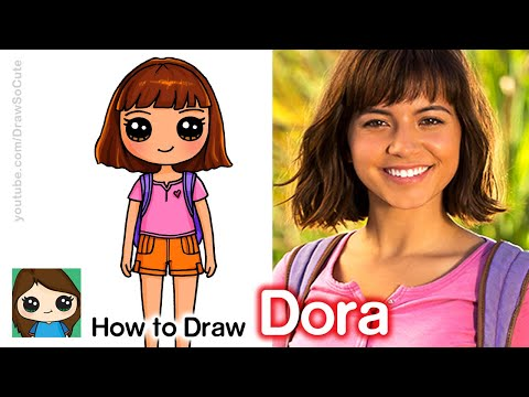 How to Draw Dora the Explorer | The Lost City of Gold