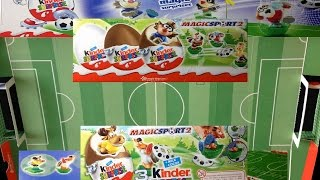 Soccer/Football Surprise eggs Special-Edition w/ soccer field unboxing|HD