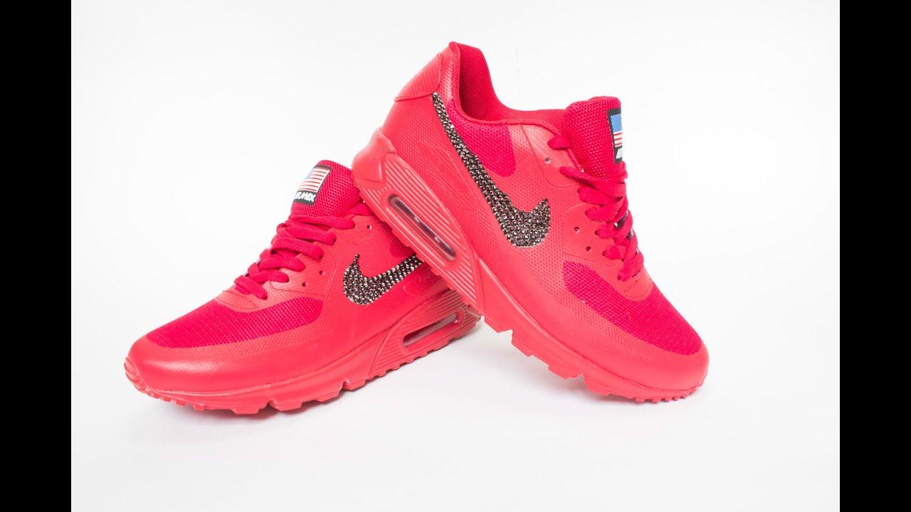 emergencia gráfico vino  Personalizar Zapatillas Nike con Swarovski - YouTube