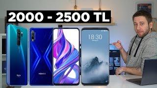 2000 - 2500 TL arası en iyi telefonlar 2020