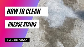 How to Clean Grease Stains From Concrete/Cement/Driveway - Girlie Garage